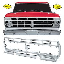 1973 1979 ford truck parts chrome grille shell 1973 77 f100 f150 f250 lmc truck