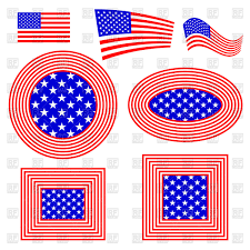 All The States Flags Word Usa With American United States Flag Royalty Free Vector Clip