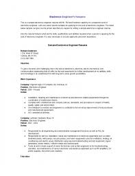 Sample Resume For Maintenance Engineer by Electronic Test Engineer Sample Resume 22 The Most Brilliant