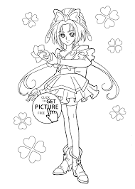 from pretty cure coloring pages for kids printable free