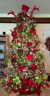 christmas tree red and lime christmas decorating tree ideas