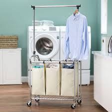 laundry sorters and hampers minimalist triple laundry sorter u2014 sierra laundry triple laundry