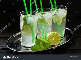 mojito cocktail mojito cocktail rum lime mint soda stock photo 393180511