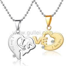 friendship heart necklace images Personalized friendship engravable half hearts couples necklaces jpg