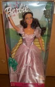 princess barbie doll brunette 56778