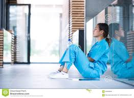 Floor Nurse by Depressed Nurse Sitting On Floor Stock Photo Image 84088858