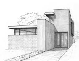 Modern House Drawing by Download Modern House Sketches Zijiapin