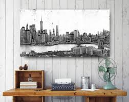 New York City Home Decor Nyc Canvas Etsy