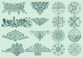line ornaments free vector stock graphics images