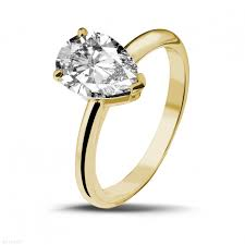 pear shaped gold engagement rings yellow gold engagement rings 2 00 carat baunat