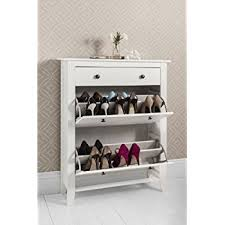 White Shoe Storage Cabinet Shoe Storage Cabinet Deluxe With Storage Drawer Cotswold In White