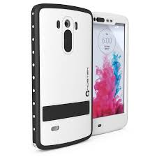 lg g3 waterproof case ghostek atomic white attached screen protector