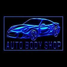 led lights for body shop uk auto body shop advertising led light sign white amazon co uk