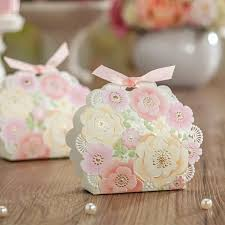 wedding favor boxes wholesale wedding favors lace cut beautiful flower candy box with gilding