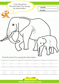 Writing The Alphabet Worksheets Kids Under 7 Alphabet Worksheets Trace And Print Letter E