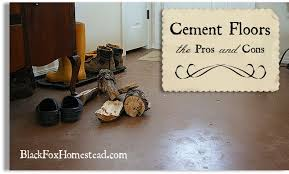 Cement Floors In The Home Pros  Cons Black Fox Homestead - Concrete home floors