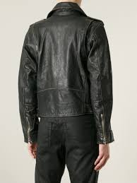padded motorcycle jacket diesel u0027l umenirok u0027 biker jacket in black for men lyst