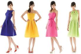 alfred sung bridesmaid flirty and colorful bridesmaids dresses from the dessy s