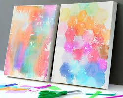 canvas painting ideas for using tissue paper fiskars
