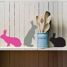 three bunnies wall stickers by lauren moriarty co three bunnies wall stickers