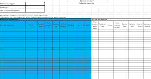 Inventory List Excel Template 13 Free Sample Chemical Inventory List Templates Printable Samples