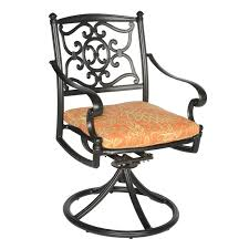Black Iron Patio Chairs by Exterior Light Brown Polished Metal Swivel Chair Decor With