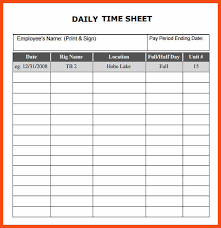 Excel Daily Timesheet Template Timesheet Template Excel Program Format