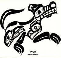 wolf sticker nisga u0027a design canadian native products gate
