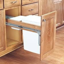 trash can cabinet insert garbage cans in cabinet top classy hidden trash can cabinet kitchen