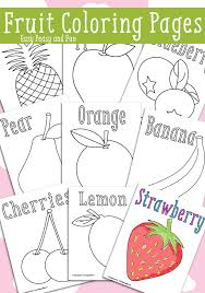 25 fruit coloring pages ideas preschool