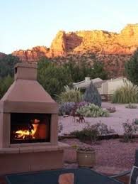 Stone Fireplace Kits Outdoor - mirage stone 3 sided wood burning outdoor fireplace