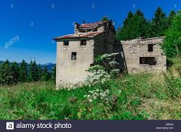 Houses In The Hills Stone House In Alps Stock Photos U0026 Stone House In Alps Stock