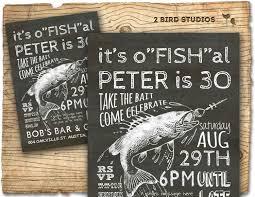 50th Birthday Invitation Cards Fishing Invitation For Fish Lovers 30th Birthday By 2birdstudios