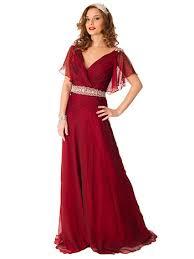 flutter style dress 30s inspired burgundy chiffon flutter sleeve evening gown vintage