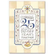 25 year wedding anniversary 25 blessed years together 25th wedding anniversary card