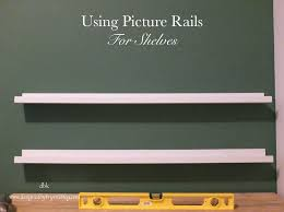 picture rails as shelving ikea hack designedbykrystleblog