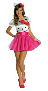 hello kitty hello kitty tutu dress teen costume buycostumes com