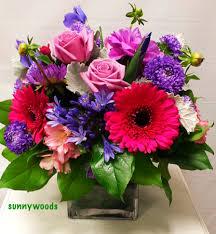 english garden cube arrangement in chatham nj sunnywoods florist