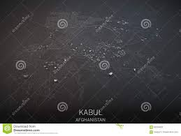 Kabul Map Map Of Kabul Afghanistan Satellite View Stock Illustration
