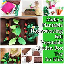 make a plantable homesteading felt vegetable garden box toy for