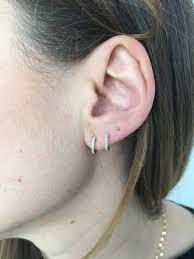 huggie earrings mini diamond huggies white gold diamond huggie earrings