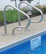 Swimming Pool Handrails Inground Pool Handrails Royal Swimming Pools
