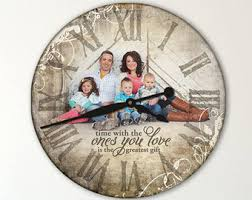 personalized clocks with pictures photo clock etsy