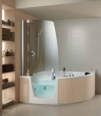 bathroom getting more ideas of jacuzzi shower combination design bathroom decorating design ideas light brown solid wood bathroom shelf along round ceramic jacuzzi shower