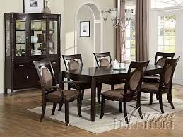 Acme Dining Room Furniture Vienna Dark Finish 7 Piece Dining Table Set By Acme 08320