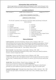 Automotive Resume Template Sales Associate Resume Examples Auto Parts Sales Resume Sales