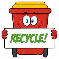 imagenes animadas sobre el reciclaje sonriendo personaje de dibujos animados rojo de reciclaje papelera