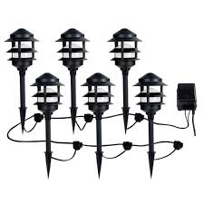 amazon com ce tech low voltage black audio path light kit with