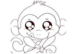 cute baby monkey drawings maybe something like this and add the