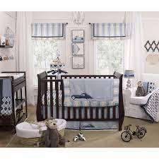 baby crib sheets boy navy linen bedding set washed linen indigo